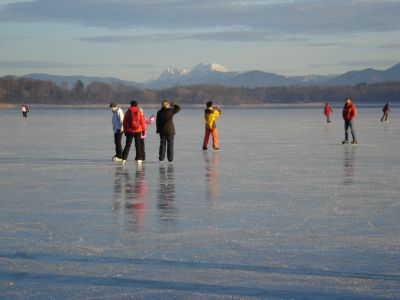 Der Chiemsee im Winter